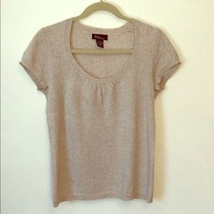 100% Cashmere cap sleeve sweater by Evelyn sz Med